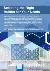 Selecting the Right Builder for Your Needs